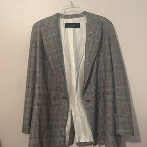 Zara Basic blazer jacket plaid